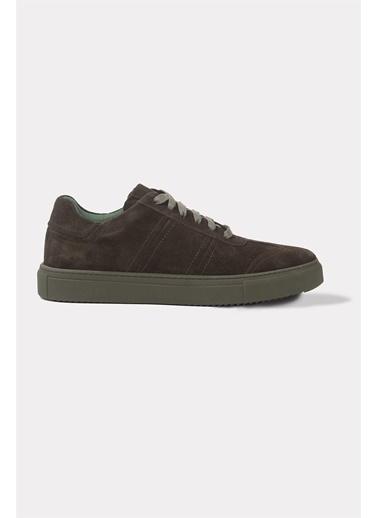 Krähe Koraki Haki Süet Minimal Sneaker Haki